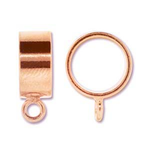 Kumihimo Slide Bail 13.5mm Copper Plated x2