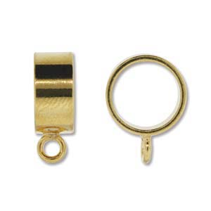 Kumihimo Slide Bail 13.5mm Gold Plated x1