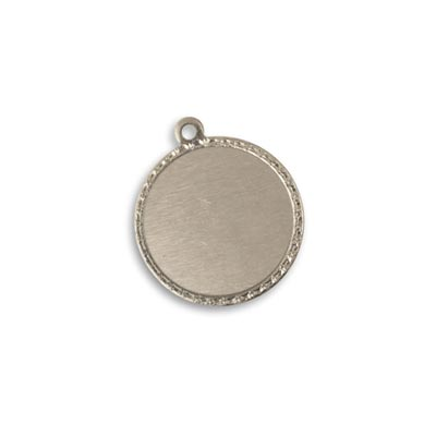 Vintaj Artisan Pewter 18.6x21.2mm Metal Blank Token Circle x1