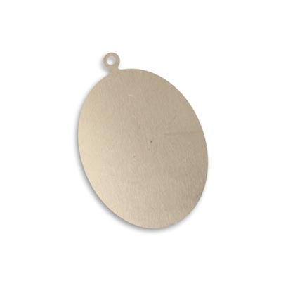 Vintaj Artisan Pewter 35x24mm Metal Blank Oval x1