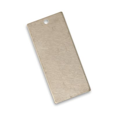Vintaj Artisan Pewter 32.3x14.5mm Metal Blank Rectangle x1