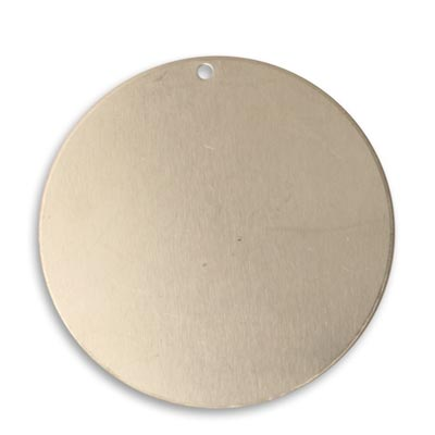 Vintaj Artisan Pewter 34.8mm Metal Blank Circle x1