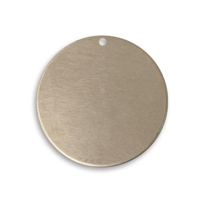 Vintaj Artisan Pewter 25.7mm Metal Blank Circle x1