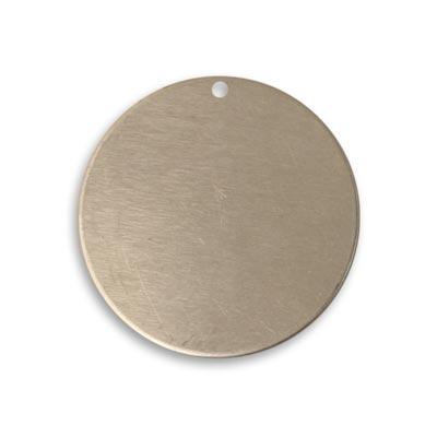 Vintaj Artisan Pewter 25.7mm Metal Blank Circle x1