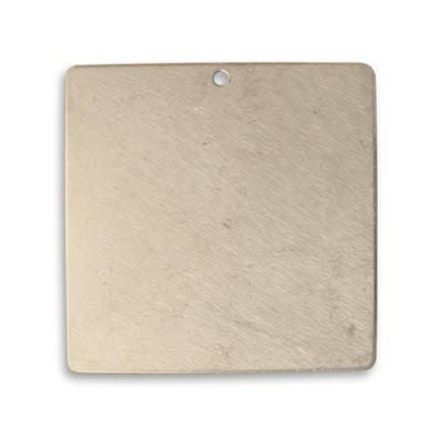 Vintaj Artisan Pewter 29.5mm Metal Blank Square x1