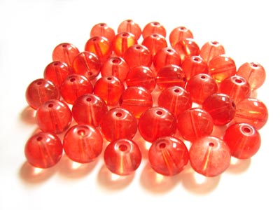 Round Glass Beads 8mm - Pomegranate x40 approx