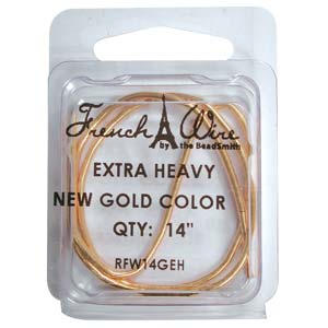 French Wire Bullion Gimp, New Gold Colour, Extra Heavy