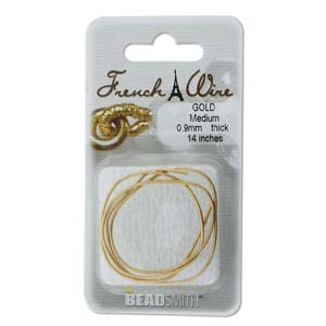 French Wire Bullion Gimp, New Gold Colour, Medium
