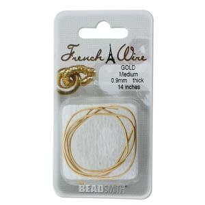 French Wire Bullion Gimp, New Gold Colour, Medium