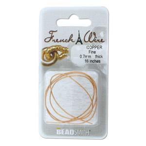French Wire Bullion Gimp, Copper Colour, Fine