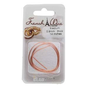 French Wire Bullion Gimp, Copper Colour, Medium