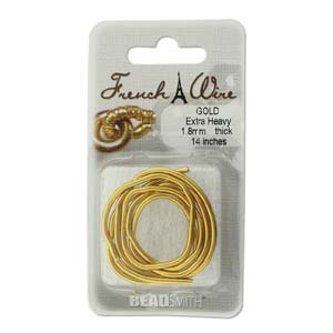 French Wire Bullion Gimp, Gold Colour, Extra Heavy