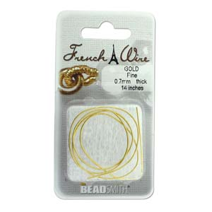 French Wire Bullion Gimp, Gold Colour, Fine