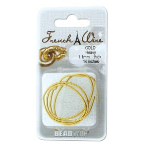 French Wire Bullion Gimp, Gold Colour, Heavy