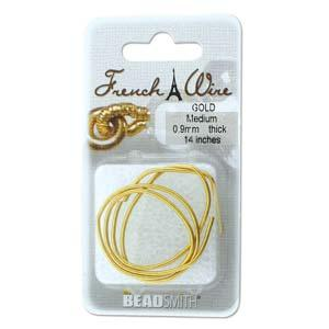 French Wire Bullion Gimp, Gold Colour, Medium