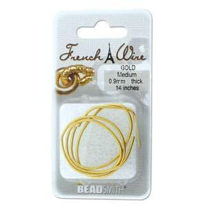 French Wire Bullion Gimp, Gold Colour, Medium