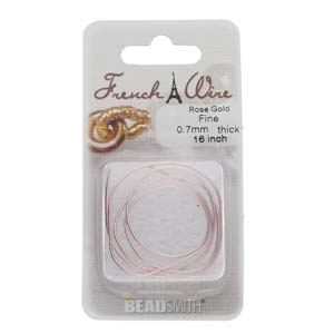 French Wire Bullion Gimp, Rose Gold Colour, Fine