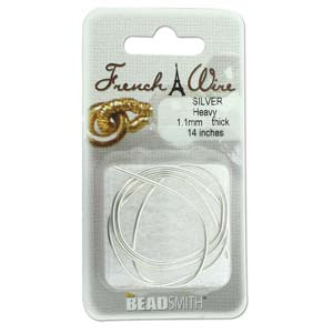French Wire Bullion Gimp, Silver Colour, Heavy