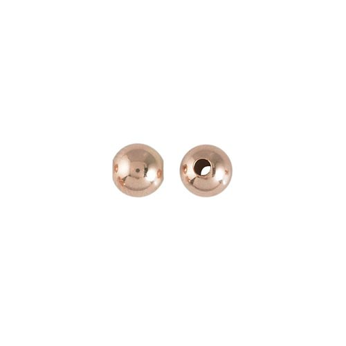 Rose Gold Filled Beads - 5mm Plain Round Bead (1.4mm hole) x1