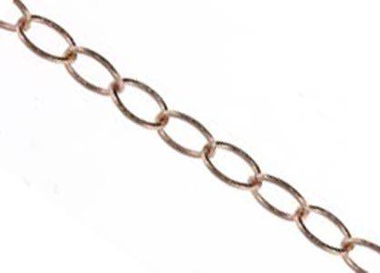 Rose Gold Filled 2.7x4.1mm Open Cable Chain per 6 inch - 15cm