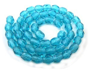 Czech Glass Fire Polished beads - 3mm - x50 Teal