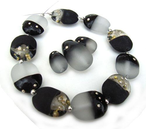 Atonement Scarabs & Eggs -  Ian Williams Artisan Glass Lampwork Beads