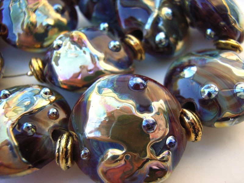 Liquid Gold -  Ian Williams Artisan Glass Lampwork Beads