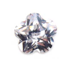 Cubiz Zirconia CZ Flower 5mm - Crystal Clear x1