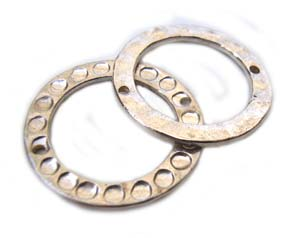 Bali Sterling Silver 19mm Round Ring Link Connectors x1