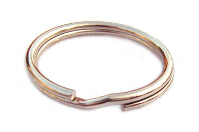 Silver Tone 24mm Split Rings Keyring x1