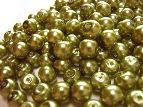 Faux Pearls 6mm Glass Beads 40 grams (choose colour)