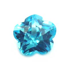 Cubiz Zirconia CZ Flower 8mm - Aquamarine x1