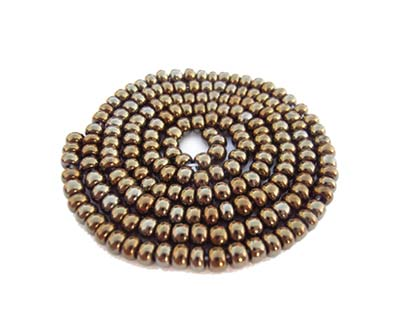 Czech Seed Beads 11/0 Brown Iris mini hank