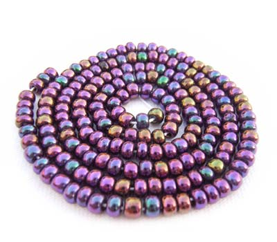 Czech Seed Beads 6/0 Purple Iris 1 mini Hank