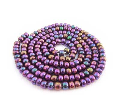 Czech Seed Beads 8/0 Purple Iris 1 mini Hank