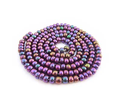 Czech Seed Beads 11/0 Purple Iris mini hank