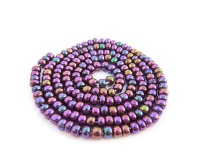 Czech Seed Beads 11/0 Purple Iris mini hank