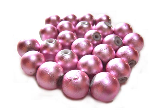 Round Glass Spectra Beads 8mm ~ Pink
