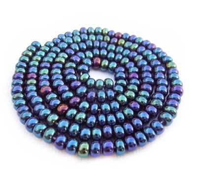 Czech Seed Beads 6/0 Blue Iris 1 mini Hank