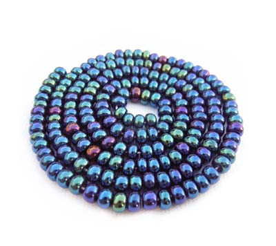 Czech Seed Beads 8/0 Blue Iris 1 mini Hank