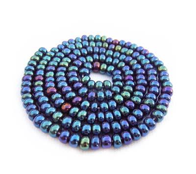 Czech Seed Beads 8/0 Blue Iris 1 mini Hank