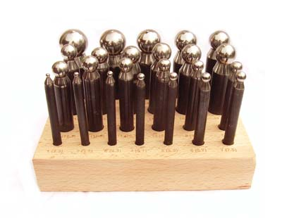 Economy Dapping Doming Punch Set of 24 - Jewellers Tools