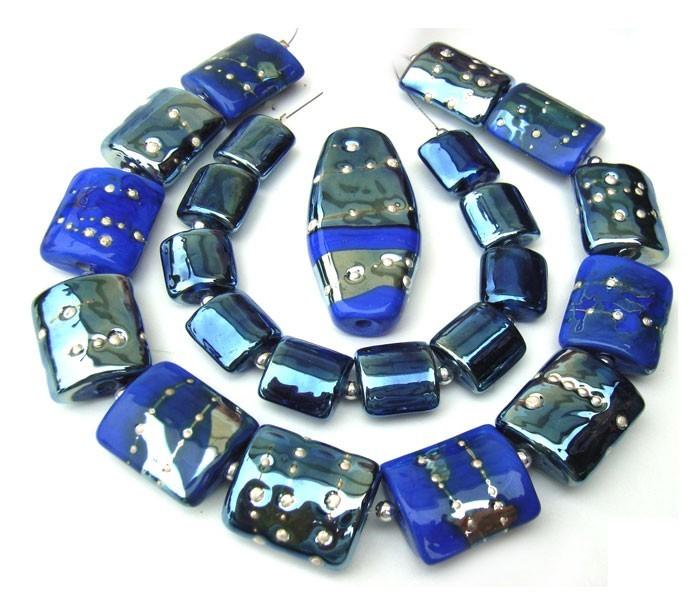 Electric Blue - Ian Williams Artisan Glass Lampwork Beads