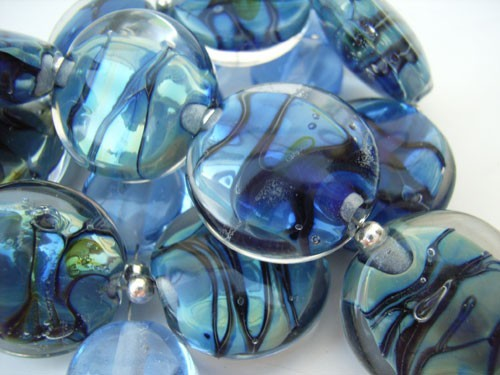 The Lagoon -  Ian Williams Artisan Glass Lampwork Beads