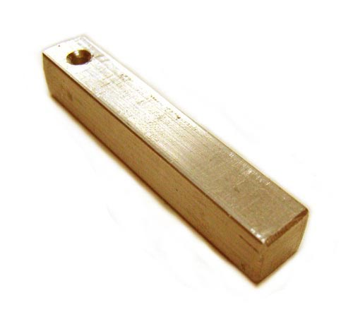 "Brass Square Bar Stamping Blank 1/4"" - 6.3mm (Top Bail)"