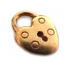 BALI Gold Vermeil 13.5mm Padlock Charm x1