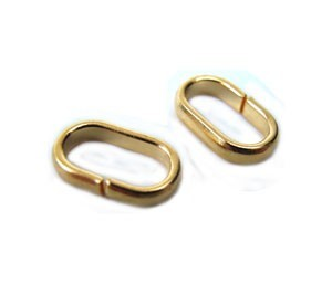Flat Oval Jump Rings - Bails 5x8mm Gold Plated x72pc approx