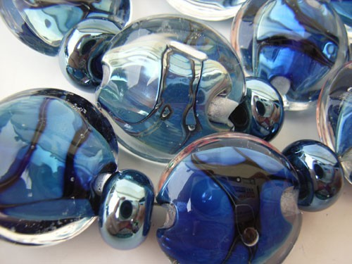 Ripples -  Ian Williams Artisan Glass Lampwork Beads
