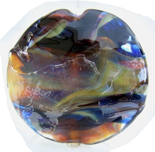 Shatter 36mm ~ Ian Williams Handmade Artisan Glass Lampwork Pendant Bead x1