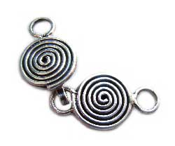 BALI Sterling Silver Hook and Eye Clasp 32.5x10x1.6mm - Spiral